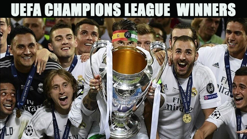 UEFA Champions League winners
