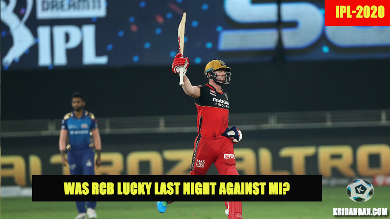 Was RCB Lucky last night against MI